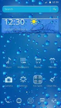 Rainy Water Drop Theme poster