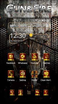Gun & Bullet Theme apk screenshot