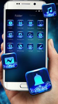 Neon Blue Wolf Launcher Theme screenshot 1
