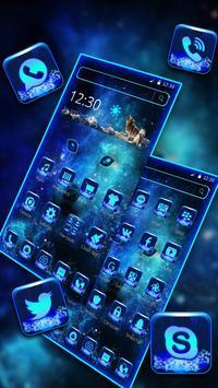 Neon Blue Wolf Launcher Theme screenshot 2