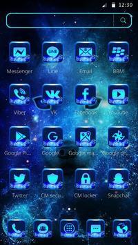 Neon Blue Wolf Launcher Theme screenshot 4