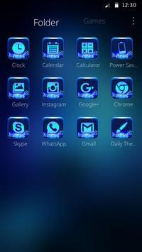 Neon Blue Wolf Launcher Theme screenshot 5