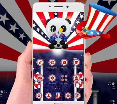 American Flag Cute Panda Theme apk screenshot