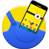 Lovely Mini friends theme Small Yellow People icon