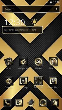 Luxury Black And Golden Theme screenshot 3