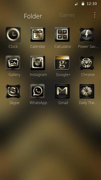 Luxury Black And Golden Theme apk screenshot