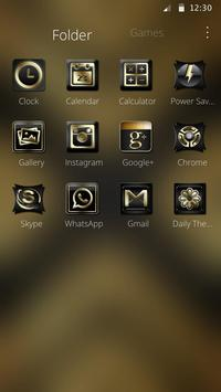 Luxury Black And Golden Theme screenshot 5