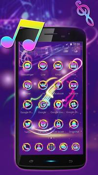 Neon Music Theme 2D apk screenshot