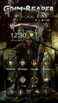 Skull Grim Reaper Theme apk screenshot