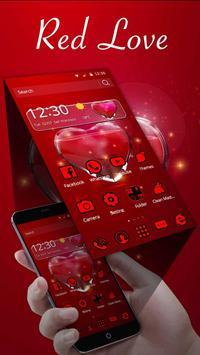 Red Love Heart Theme screenshot 1