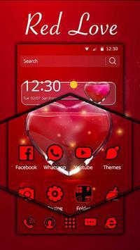 Red Love Heart Theme screenshot 2