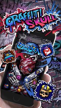 Tema Tengkorak Graffiti screenshot 3