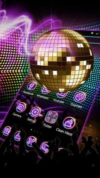 disco Light Night Theme poster