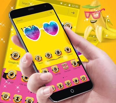 Theme Yellow Cute Banana Summer Sunglass poster