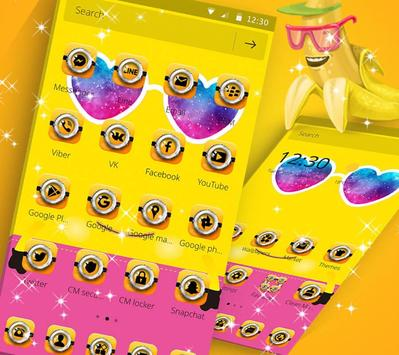 Theme Yellow Cute Banana Summer Sunglass screenshot 1