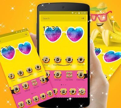 Theme Yellow Cute Banana Summer Sunglass screenshot 2