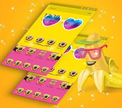 Theme Yellow Cute Banana Summer Sunglass screenshot 3