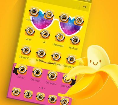 Theme Yellow Cute Banana Summer Sunglass screenshot 4