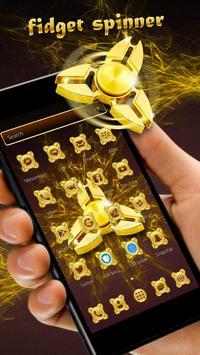 Fidget Spinner Golden Luxury  Launcher Theme poster