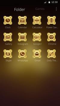 Fidget Spinner Golden Luxury  Launcher Theme apk screenshot