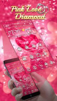 Pink Love Diamond Theme apk screenshot