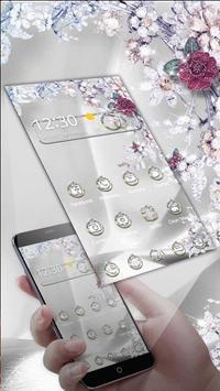 Diamond Rose Theme apk screenshot