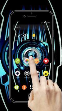 Blue neon technology starts apk screenshot