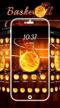 Basketball Flame Theme poster