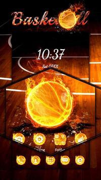Basketball Flame Theme apk screenshot