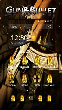 Golden Bullet & Gun Theme screenshot 2