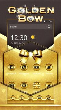 Golden Bow Theme apk screenshot