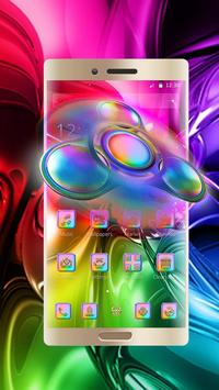 Color fidget spinner 3d theme apk screenshot