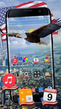 American Eagle & Flag 2d (free)Theme poster