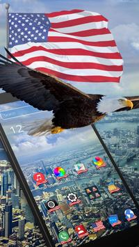 American Eagle & Flag 2d (free)Theme apk screenshot