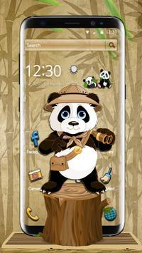 Robe Hologram Crazy panda Theme 2D poster