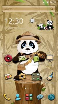 Robe Hologram Crazy panda Theme 2D apk screenshot