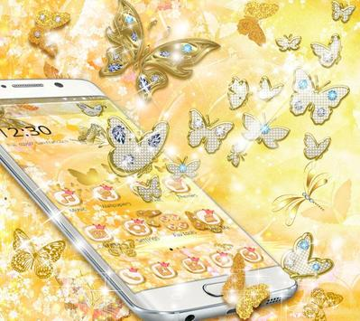 Golden Diamond Butterfly Luxury Theme screenshot 1