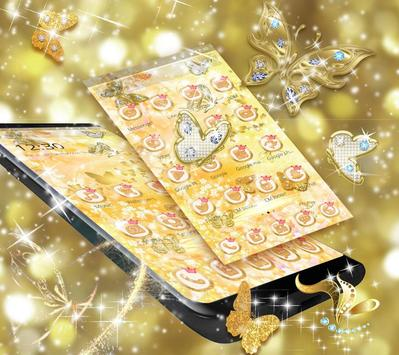 Golden Diamond Butterfly Luxury Theme screenshot 2