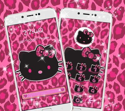 Pink Kitty Shine Leopard Cute Kitten Theme apk screenshot