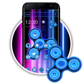 neon Colors Fidget Spinner Theme 2D icon
