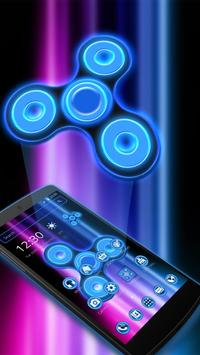 neon Colors Fidget Spinner Theme 2D apk screenshot