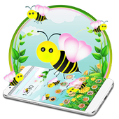 Cute Yellow Honeybee 2d theme (free) icon
