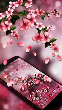 Floral Cherry Blossoms Sakura 2d theme poster