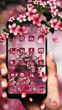 Floral Cherry Blossoms Sakura 2d theme apk screenshot