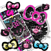 Kitty Black Diamond Bowknot Sweet Princess Theme icon