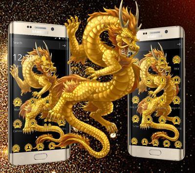 Golden Dragon Totem Luxury Theme poster