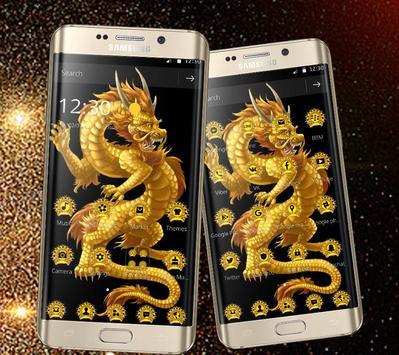 Golden Dragon Totem Luxury Theme apk screenshot