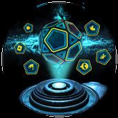 Neon Pentagon Blue Tech Theme icon