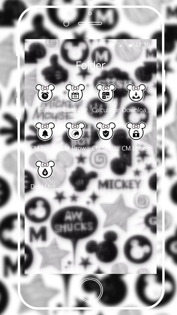 Cute Mouse Black White Graffiti Theme 3d For Android Apk