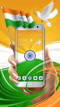 Elegant India Trio Flag Theme poster
